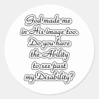God's-image Classic Round Sticker