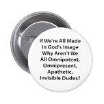 God's Image? Pinback Button