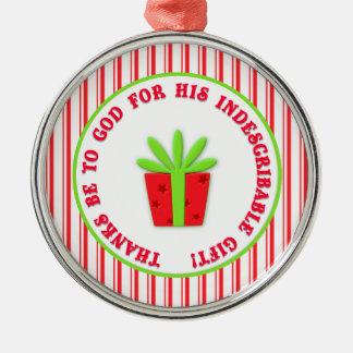 Gods Indescribable Gift Christian Christmas Christmas Ornaments