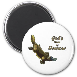 God's joke 2 inch round magnet