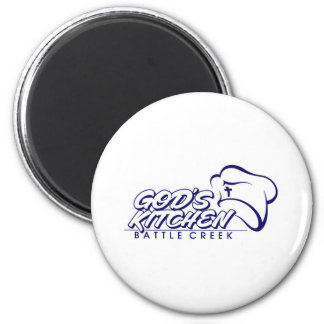 God's Kitchen - Battle Creek Store 2 Inch Round Magnet