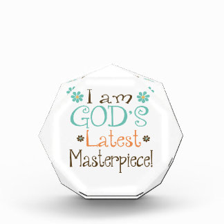 Gods Latest Masterpiece Acrylic Award