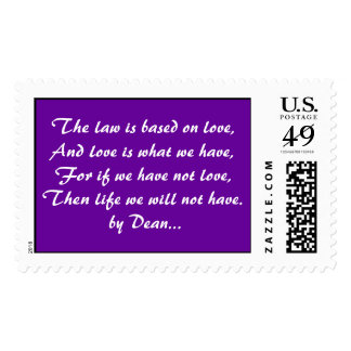 God's Law is Love... Postage Stamp