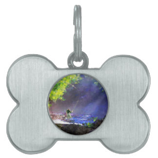 God's Light Pet Name Tag