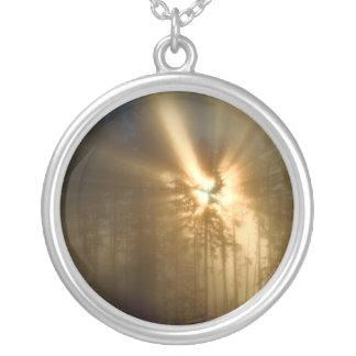 Gods Light Silver Plated Necklace