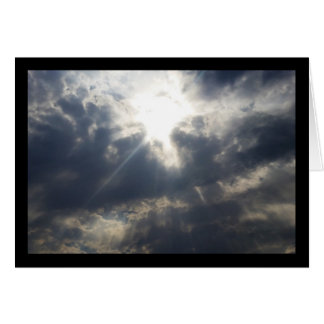 God's Light Through Clouds- Song of Sol. 8:7 Card
