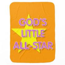 God's Little All-Star Baby Blanket