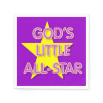 God's Little All-Star Paper Napkin