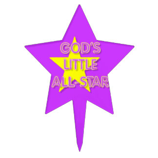 God's Little All-Star Star-Shaped Cake Topper