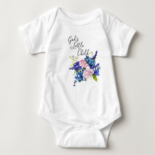 Gods Little Child Baby Bodysuit