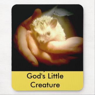 God's Little  Creature Hedgehog mouse pad
