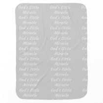 God's Little Miracle Patterned Baby Blanket