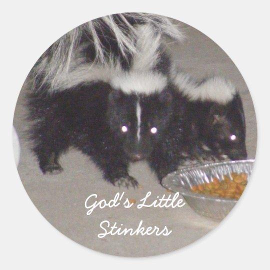God's Little Stinkers Classic Round Sticker