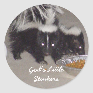 God's Little Stinkers Round Stickers