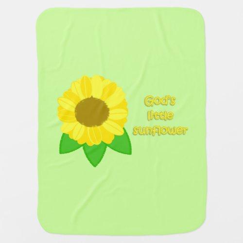 God's Little Sunflower Baby Blanket