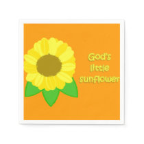 God's Little Sunflower Paper Napkin