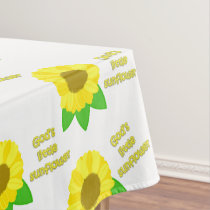 God's Little Sunflower Tablecloth