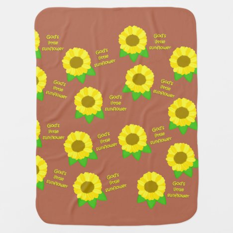 God's Little Sunflowers Baby Blanket