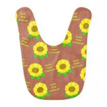 God's Little Sunflowers Patterned Bib