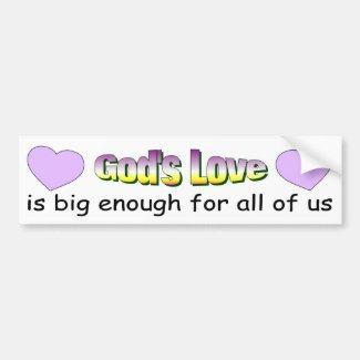 God's Love bumper sticker