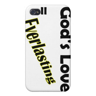 Gods love equals everlasting Christian design Cover For iPhone 4