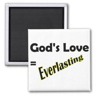 Gods love equals everlasting Christian design Magnet