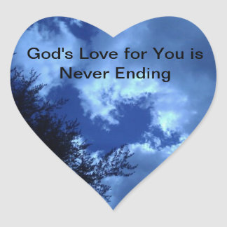 God's Love for You is Never Ending Heart Sticker