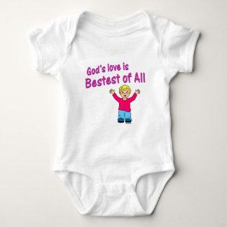 Gods love is best of all Christian design Baby Bodysuit