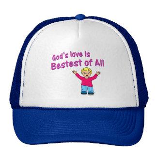 Gods love is best of all Christian design Trucker Hat