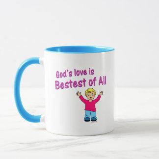 Gods love is best of all Christian design Mug