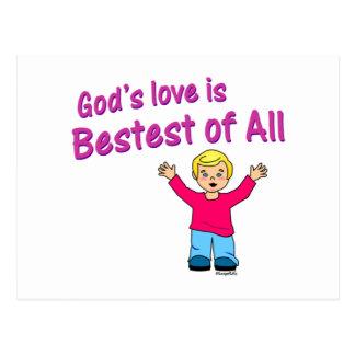 Gods love is best of all Christian design Postcard