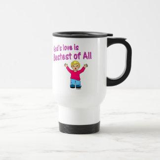 Gods love is best of all Christian design Travel Mug
