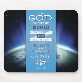 God's Love Mousepad - John 3:16 Bible Verse