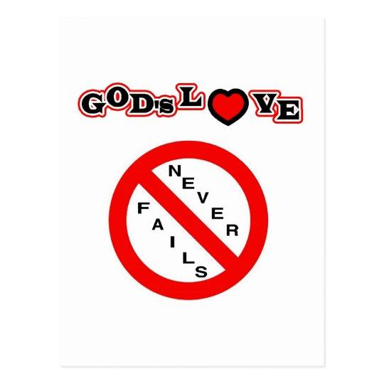 God's Love Never Fails Postcard