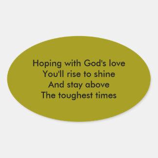 God's love oval sticker