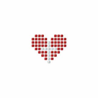 God's Love Polo Shirt - Cross plus Heart