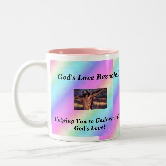 God's Love Revealed Two-Tone Coffee Mug