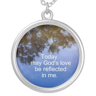 God's love... round pendant necklace