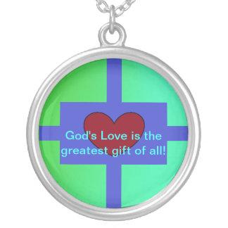 God's Love Round Pendant Necklace
