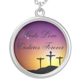 God's Love Silver Plated Necklace