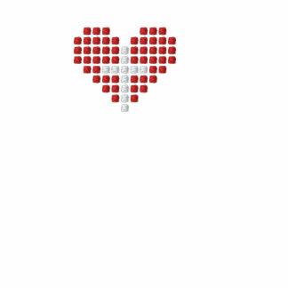God's Love T-Shirt - Cross plus Heart