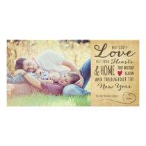 God's Love Vintage Holiday Photo Card