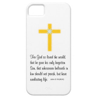 God's Love with Gold-Colored Cross iPhone 5 Cover