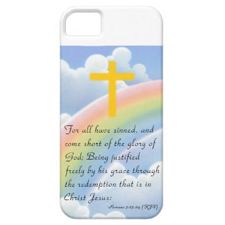 God's Love with Gold_Colored Cross iPhone Case