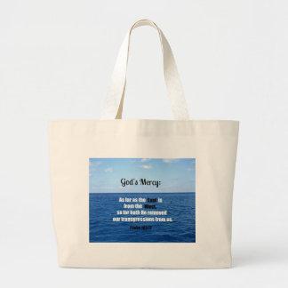 God's Mercy: Psalm 103:12 Jumbo Tote Bag