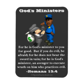 God's Ministers Police and Crook Rectangular Photo Magnet