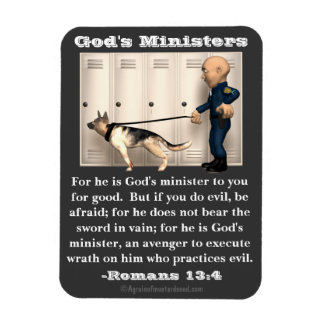 God's Ministers Police and Dog Magnet