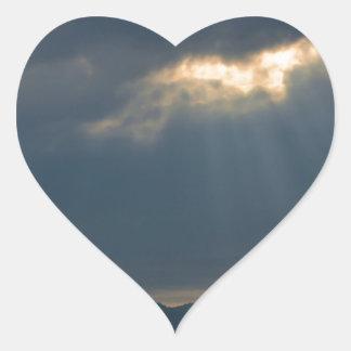 Gods Morning Rays Heart Sticker