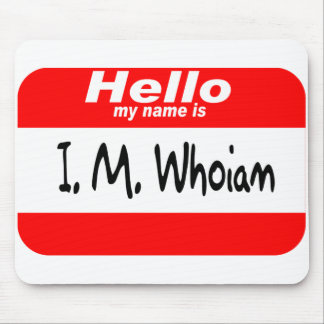 God's Name Tag (red) Mouse Pad