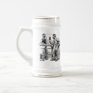 God's Nectar Vintage Caricature Beer Mug Stein!! mug